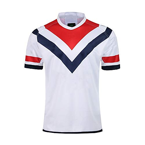 Axdwfd Rugby-Anzug Rugby Jersey, 2019 Australian Hahn Fußball Jersey Jersey Trainings Jersey Jersey Fans Jersey T-Shirt Kurzarm Sunscreen Kurzarm Polo Shirt (Color : Black, Size : XXL)