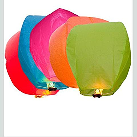 Lot de 50 Lanternes volantes, montgolfière et nuit de Noël, Halloween Wish Bibi mariage et lanterne avec retardateur de flamme 100% Biodgradable lanternes chinoises en