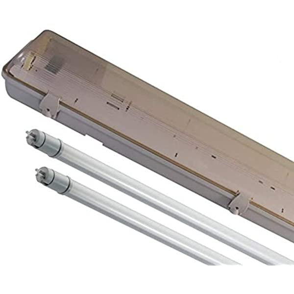5ft LED T8 IP65  Single Twin IP65 Weatherproof Batten Fitting with LED Tubes