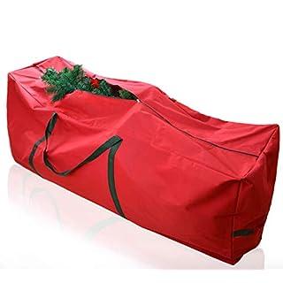 Asommet Tannenbaumhülle Weihnachtsbaumhülle 220cm Tannenbaumtasche Weihnachtsbaumtasche 9 Gummifüßen Tall-Tear beständig Reißverschluss Tasche mit verstärkte Griffe