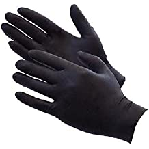 Primacy Men's Nitrile Powder-free Gloves with Latex and Skin Irritation (Medium, Black) - Pack of 100