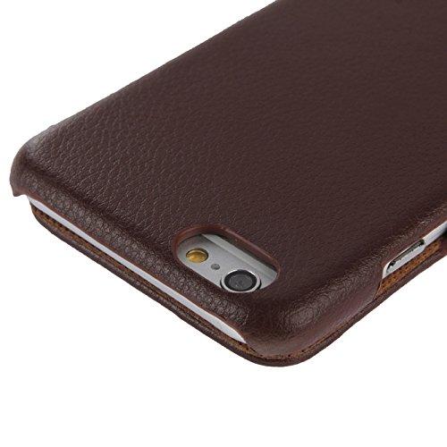 Phone case & Hülle Für IPhone 6 / 6S, PU-lederner Fall mit Art- und Weisezeichen ( Color : Magenta ) Brown