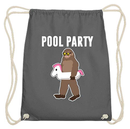 Pool Party - Coole Leute, Partybesucher, Party Faces, Feiern, Feste, Jungen, Männer, Herr - Baumwoll Gymsac
