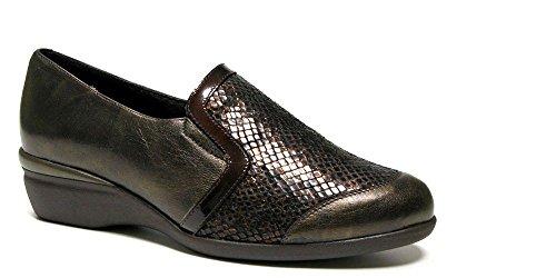 Scarpe pensati Donna Doctor Cutillas-Pelle Nero con pala di lycra-Soletta estraibile-55804-70 nero Size: 35