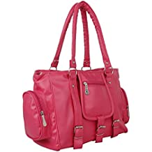 Flora Premium PU Leather Women's Handbag (Pink Color)