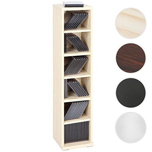 Jago CD-Regal CD-Ständer mit Platz für 102 CDs in vier verschiedenen Farben