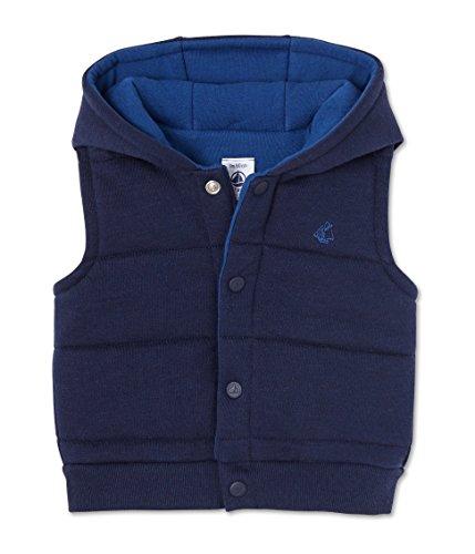 Petit Bateau Baby - Jungen Weste Blouson SM, Blau (Peacoat 34), 68 (Herstellergröße: 6m/67cm)