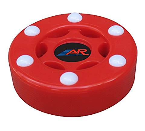 A&R Street Floor Plastic Puck W 6 Roller Balls Red Six Button PVC Street Puck