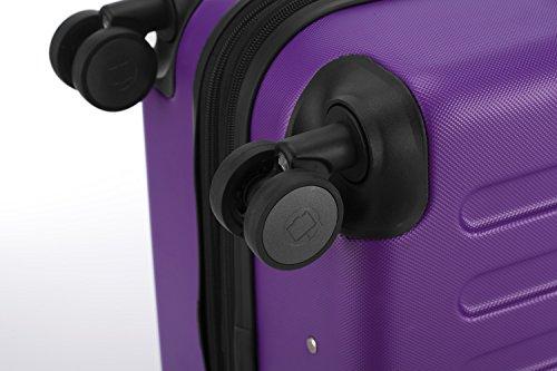 HAUPTSTADTKOFFER® 82 Liter (ca. 65 x 40 x 30 cm) · Hartschalenkoffer · Modell: SPREE HK-1203 · TSA Schloss · Farbe: VIOLETT -
