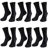 Sockenonline 12 | 24 | 36 Paar Herren Business Freizeit Socken Schwarz Baumwolle Klassische Anzugsocken (36, 39-42)