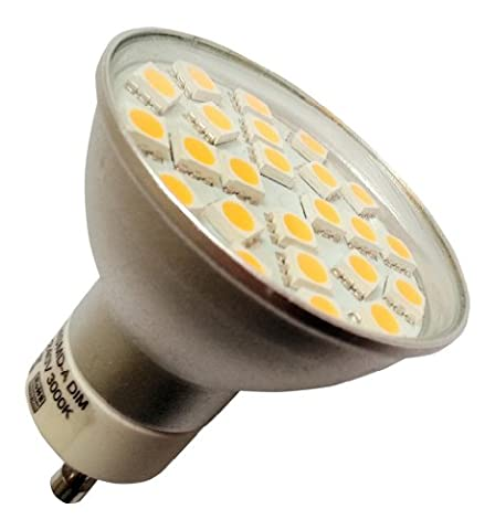 5 x GU10 24 SMD LED 3.5W 380LM Dimmable White Bulbs with Glass Cover (~50W)