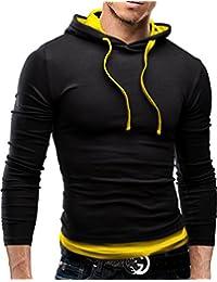 MERISH Sweat à capuche manches longues SlimFit parfait pour les loisirs et sports beaucoup de couleurs différentes Modell 06