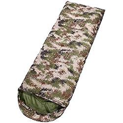 Mhwlai 1000 G 1900 G Camuflaje Exterior Saco de Dormir Senderismo Adulto Camping Camping Saco de Dormir Antihumedad,B,1