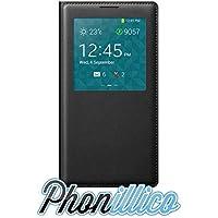 Phonillico® Coque Flip Cover S-View Noir pour Samsung Galaxy Note 3 LITE - Coque Housse Etui Case Protection Rabat Fenetre Window View Ultra Slim