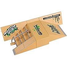 OurKosmos®  5pcs Skate Park Kit de piezas de rampa de Tecnología de Cubierta Circuit Board Mini monopatín dedo Fingerboards último Parques (Incluye las Juntas Finger)