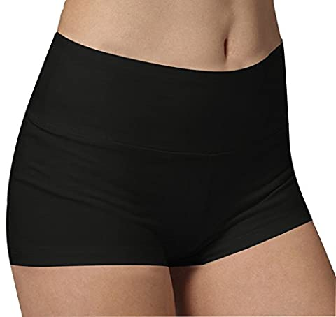 short femme de sport Noir yoga fitness Capri Boy Shorts Capri Sports et Loisirs,S