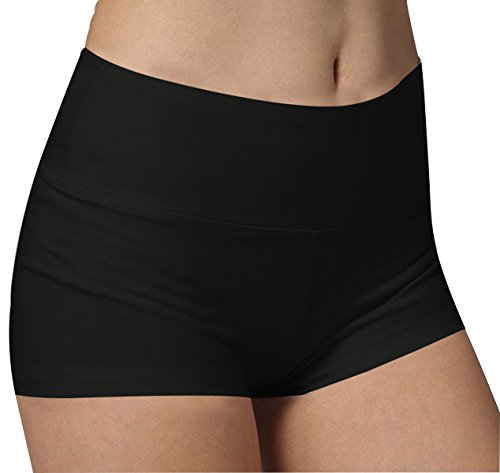 Short Femme de Sport Noir Yoga Fitness Capri Boy Shorts...