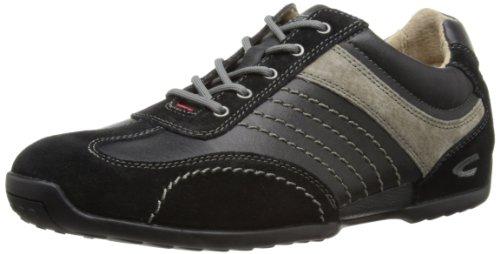 camel active - Space 12, Sneakers da Uomo Black (Black Suede/Grey Synthetic Leather)