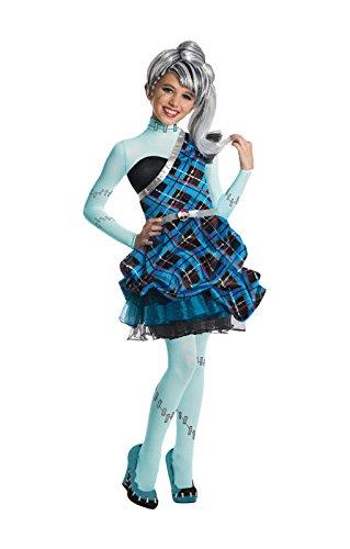 Stein Monster High Kostüm für Mädchen Deluxe M (Frankie Stein Halloween Kostüme)