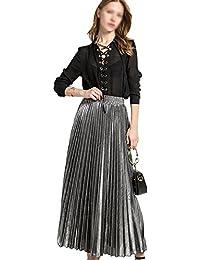 77b69c9f708a AiSi Elégante Jupe Longue Femme Robe Plier Fille Eté ...