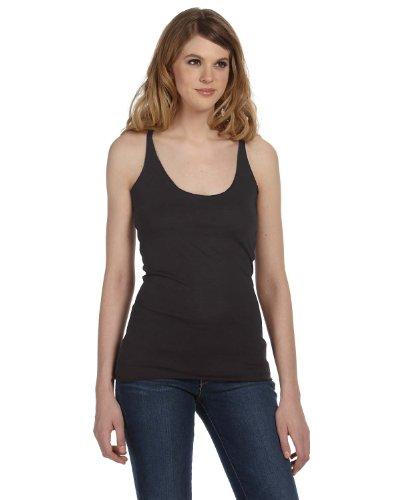 Trägershirt im Ringer-Stil - Farbe: Charcoal Heather - Größe: M - Bella Damen Heather
