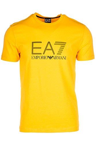 Emporio Armani EA7 t-shirt maglia maniche corte girocollo uomo arancione EU M (UK 38) 3YPTG1 PJ18Z 1653