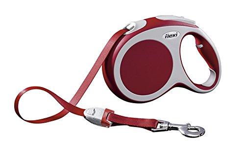flexi Roll-Leine Vario L Gurt 5 m rot für Hunde bis max. 60 kg