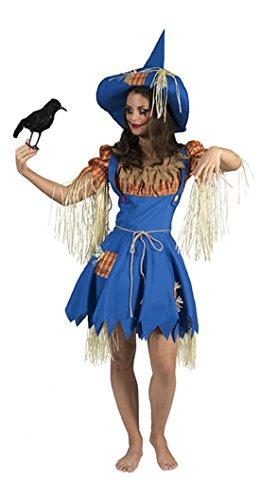 erdbeer-clown - Damen Halloween Karneval Kostüm Gärtnerin Set, Vogelscheuche, M, (Kostüm Swan Bella)