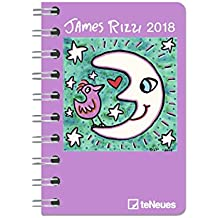 James Rizzi 2018 - Pop Art Kalender, Buchkalender, Pocket Diary, Kunstkalender 2018 - 8,8 x 13 cm