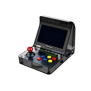 GAME Maple Mode Einzelspielkonsole, Mini-Arcade PSPGBA-Handheld Nostalgic FC-Spielkonsole Eingebaute Vielzahl von Modespielen für Zwei,Black