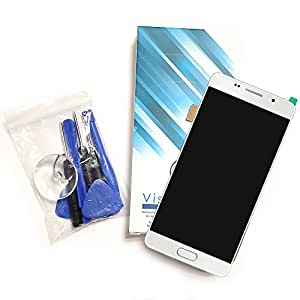 Ecran complet pour Samsung Galaxy S6 SM-G920F blanc vitre tactile + ecran LCD - Visiodirect -