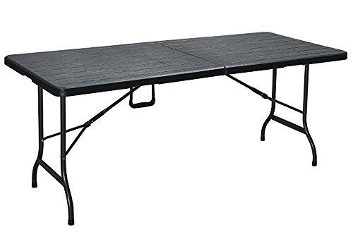 Erro Storage Table pliante en plastique aspect bois noir