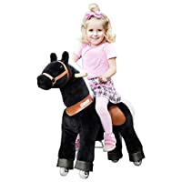MyPony Ponycycle Black Beauty Horse on Wheeled Rocking Horse and Soft Toy for Your Child