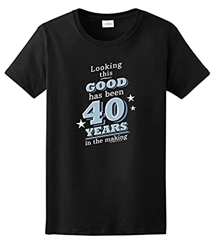 40th Birthday Gifts For All Looking Good 40 Years Ladies T-Shirt XXX-Large Navy