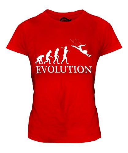 Candymix Trapez Evolution des Menschen Damen T Shirt, Größe 3X-Large, Farbe - Trapez Zirkus Kostüm