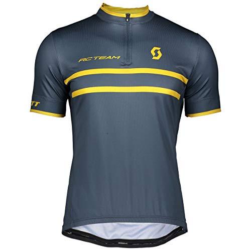 Scott RC Team 20 Fahrrad Trikot kurz blau/Ocker gelb 2019: Größe: L (50/52)