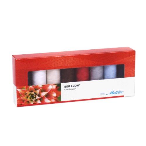 Mettler-200m Seralon Gewinde Standard Auswahl Box, mehrfarbig (Mettler-polyester-faden)