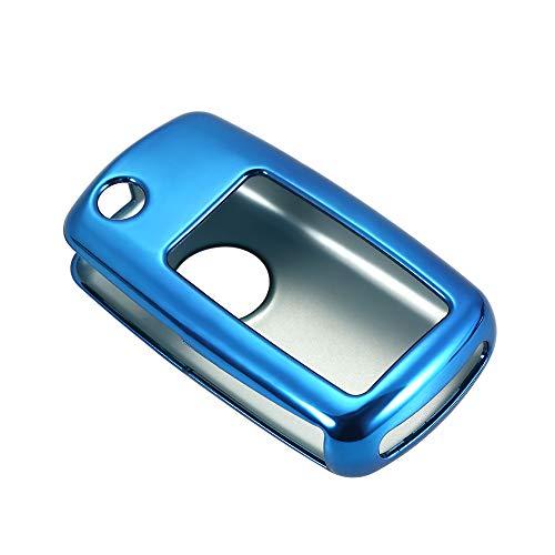 Walmeck Autofernbedienungen Hülle TPU Material Schlüsselhülle für VW Polo Auto Smart Remote Key Case Shell