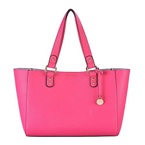L. CREDI Damen Schultertasche Aida 309-7875 pink