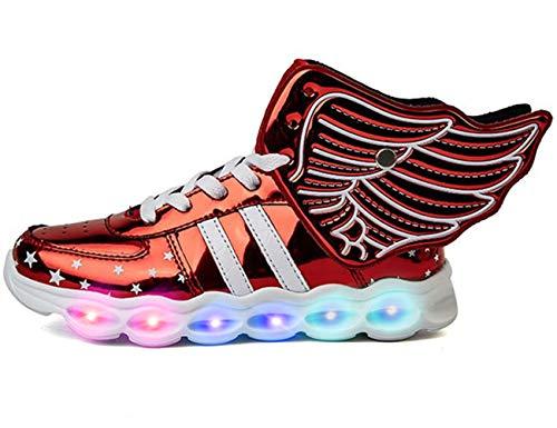Mr.Ang Schuhe mit Licht LED Schuhe USB Aufladen Leuchtend Sportschuhe Sneaker Laufschuhe Turnschuhe Trainer Blinkschuhe Schuhe Für Mädchen Jungen 26-36