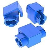 AUPROTEC 100x Kabelabzweiger 0,75 - 2,5 mm² blau Abzweigverbinder Schneid-Klemmverbinder aus Messing verzinnt PP vollisoliert