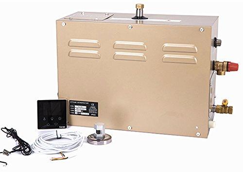 Digitaler Dampfgenerator mit LCD-Anzeige, 4,5 kW, für Dusche, Sauna, Badezimmer, Dampfbad Generator 25~55 °C, Timer: 30 min bis 12 Stunden, für geeignete Raumheizung 4 m³, CNA 643D, 220.0V