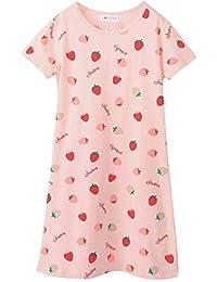 AOSKERA - Camisón - para niña Rosa Strawberry Pink Short ...