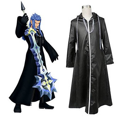 13 Kostüm Cosplay Organisation - Kingdom Hearts II Organisation XIII Cosplay Cloak, Größe XL:(181-185 CM)