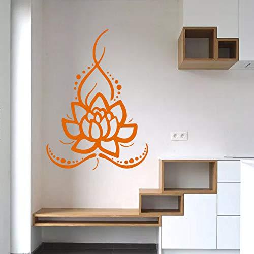 Wandaufkleber Vinyl Jingya Lotus Yoga Aufkleber Gesundheit Museum Teestube Wanddekoration Wandaufkleber Wasserdicht Sonnenglas Tür Und Fenster Aufkleber 58 * 80 Cm