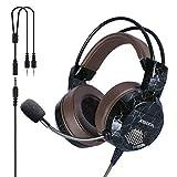 XIBERIA E1 PS4 Gaming Headset Xbox One Kopfhörer Computer PC Mikrofon Stereo Gamer Mikrofon für PC/Playstation 4/Xbox One/Laptop/Tablet/Handy/Mac