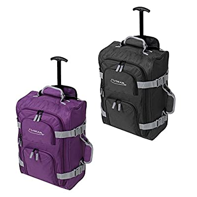 Lightweight Cabin Approved Wheeled Hand Luggage Trolley Travel Bag