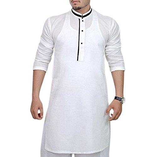 Männer Kurta Pyjama Indischen Pakistanischen Mode Baumwolle Salwar Kameez Ethnische Party Tragen Set -