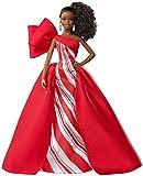 Barbie Signature poupée de collection tenue de Noël, robe blanche et rouge, édition 2019, jouet collector, FXF02