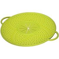 Hama Silikon Überkochschutz (Deckel zum Schutz vor Überkochen, für Topf und Pfanne, 31 cm, rund) grün